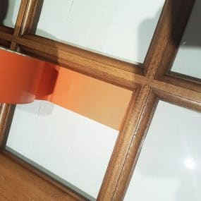 Masking perfectly into corners for accurate decorating